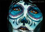 Skull Sister III ACEO