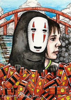 No Face and Chihiro