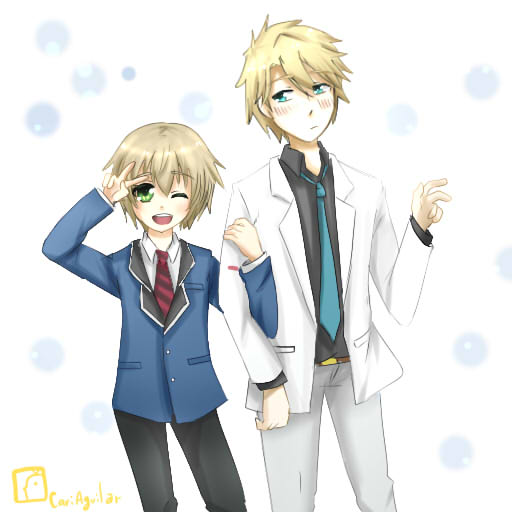 Hotaru and Masamune by CariAguilar