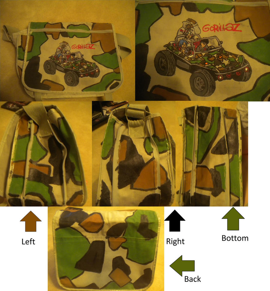 My Custom Gorillaz Bag by 23-hour-party-people