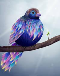 Blue vector bird