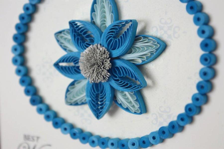 Beautiful quilled flower by innaadamenya on deviantart - Paper quilling art wallpapers ...