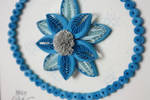 Beautiful quilled flower