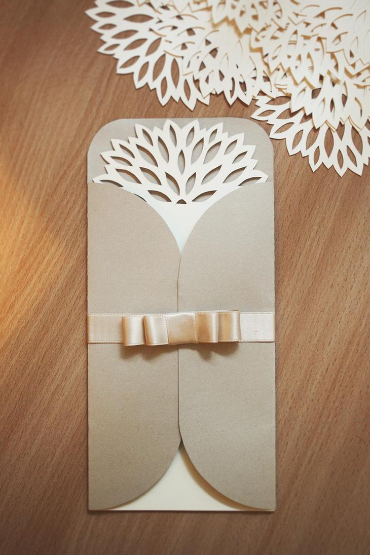 Beautiful papercutted wedding invitation by InnaAdamenya on DeviantArt