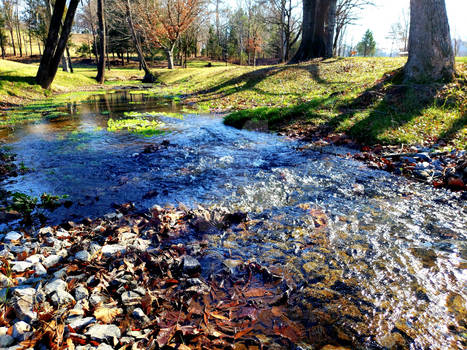 The Flowing Stream (Winter)