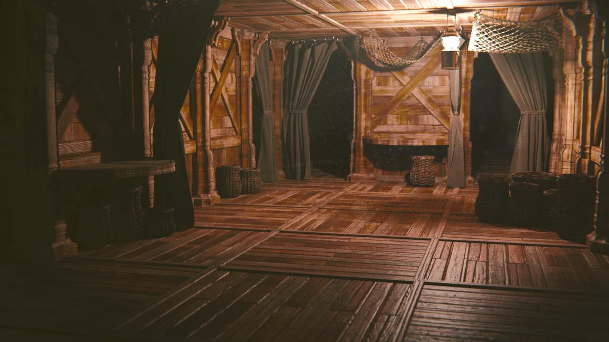 Ships Cabin By Cynicatpro