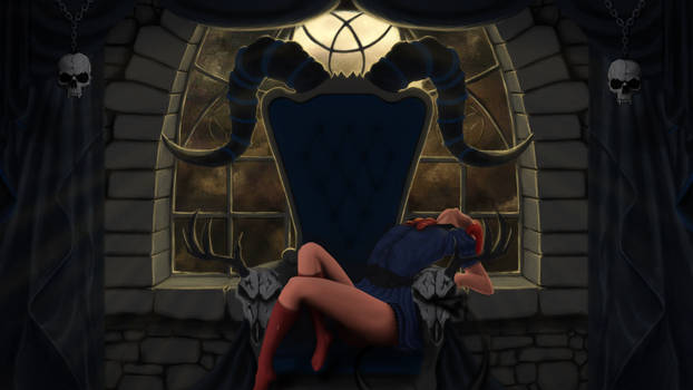 Contest: OC Princess Hazuki on her throne by ThamuzMartu