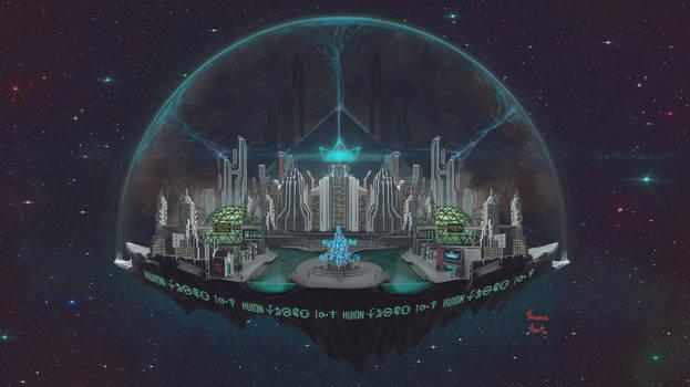 Huion Sci-Fi contest - Urbanus Tectum by ThamuzMartu