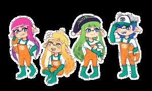 { C } Salmon Run Squad!