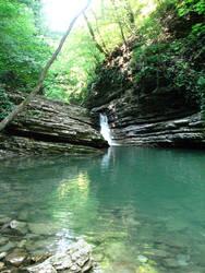 mountain waterfall 20 by Uzelena