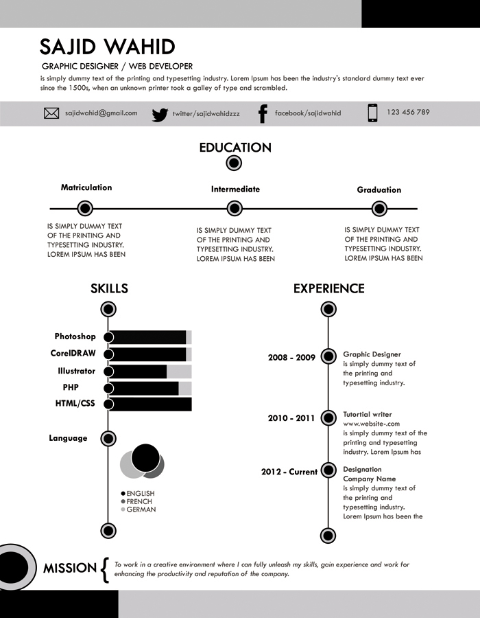 Resume clean smart by mehrodesigns on DeviantArt