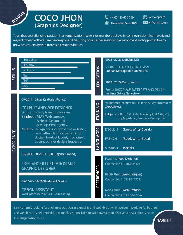 modern resume by mehrodesigns on deviantart