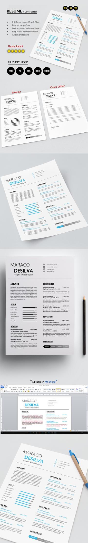 Clean Resume by mehrodesigns