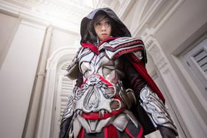 Ezio Auditore Cosplay (Helmschmied Drachen Armor) by LadyAngelus
