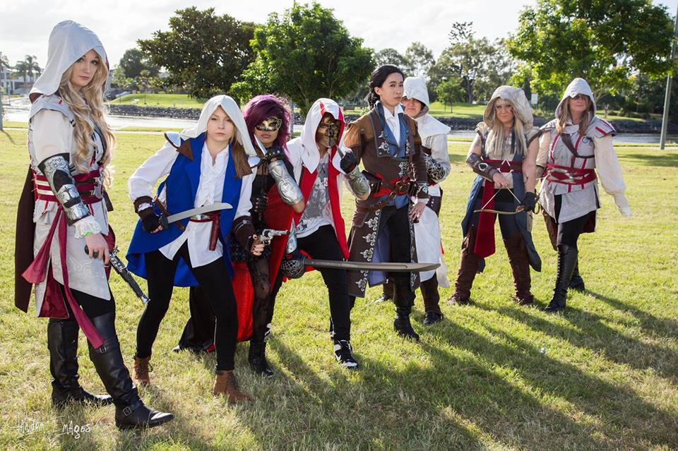 Assassin's Creed - All Girl group XD by LadyAngelus