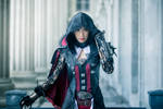 Evie Frye in Bloofer Lady Outfit
