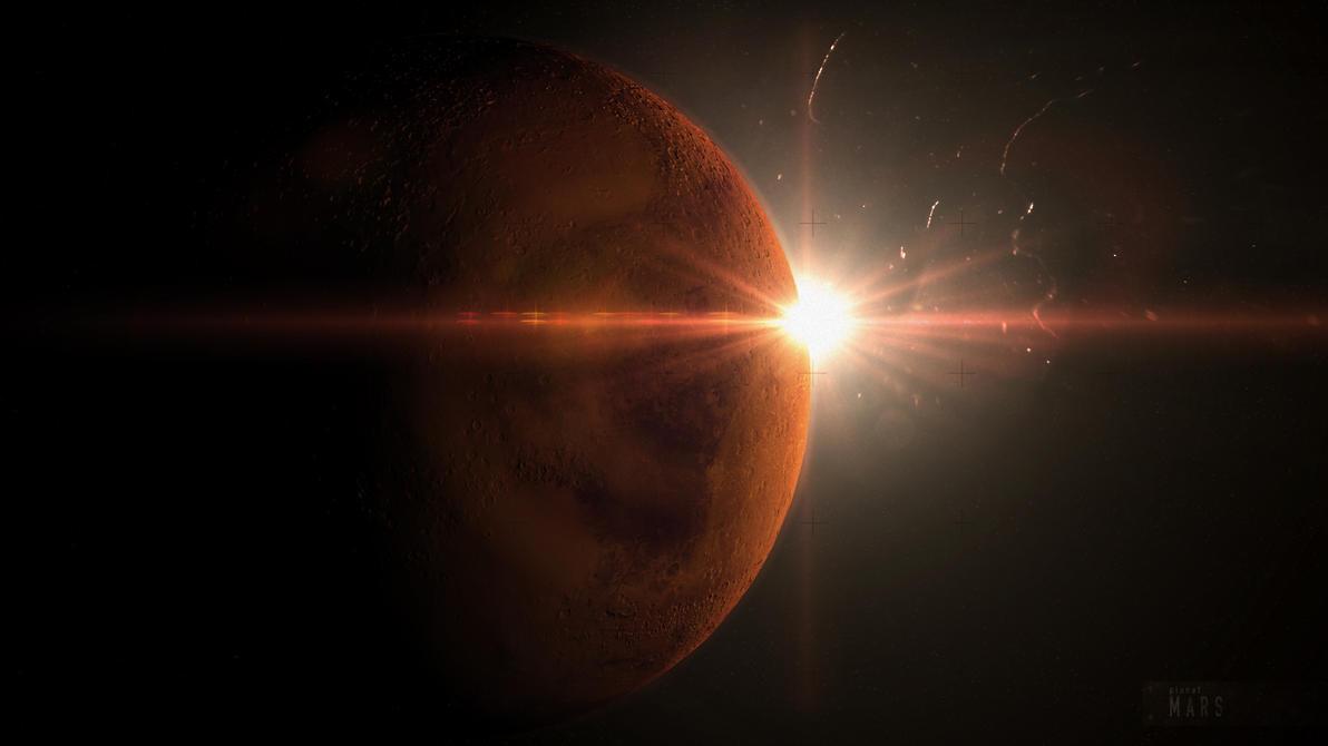 planet mars by godofdump on deviantart