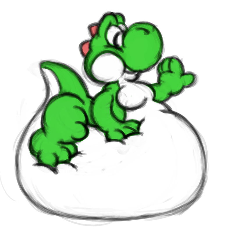 Big squishy Yoshi by DragonKick