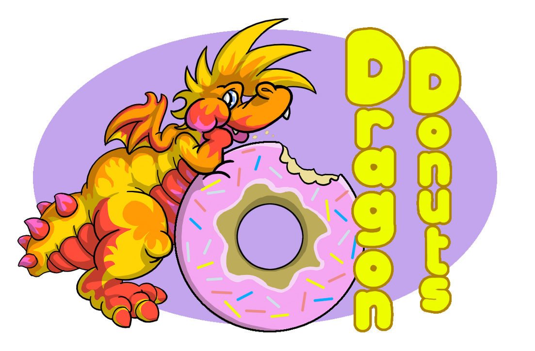Dragon Donuts Logo by DragonKick