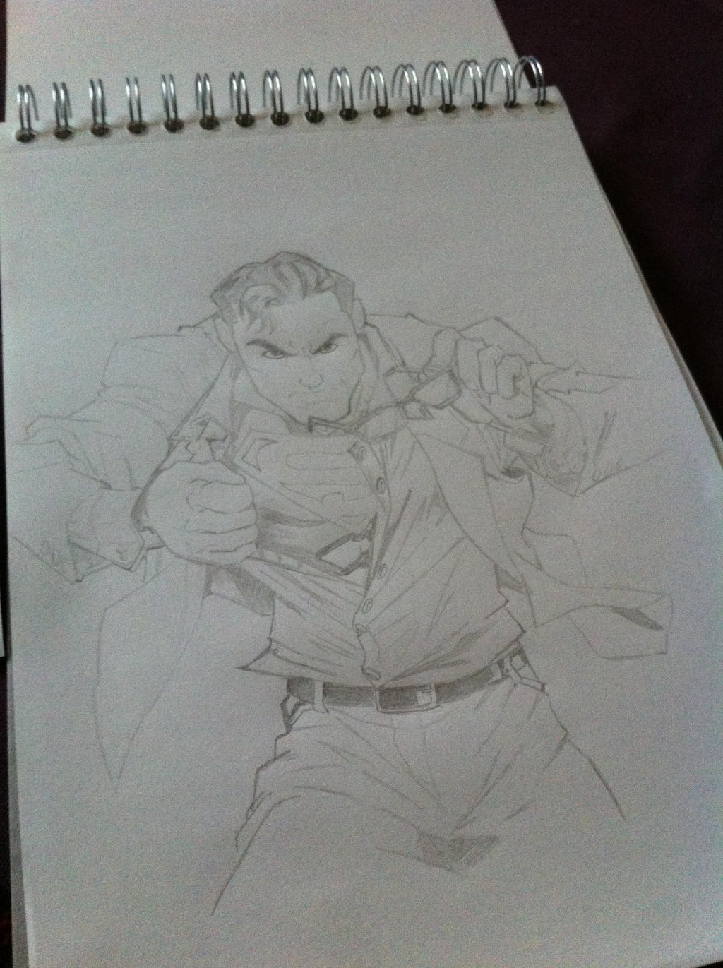It is an image of Rare Clark Kent Drawing