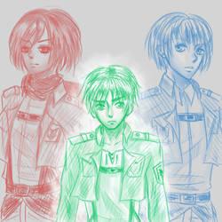 eren jaeger defense squad by shiroihimedesu