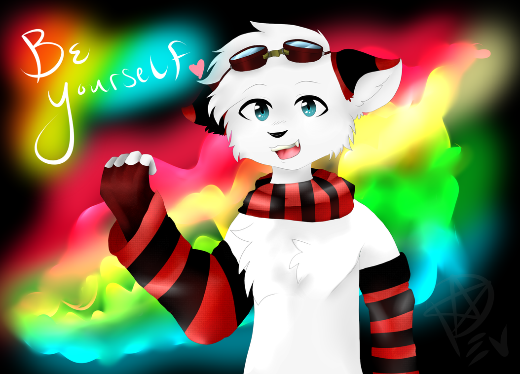 Be yourself .:Speedpaint:. by Delta-kitty