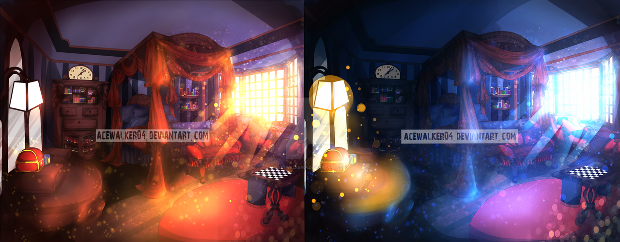 Ruler by Default: Guestroom Morning and Night Time by acewalker04