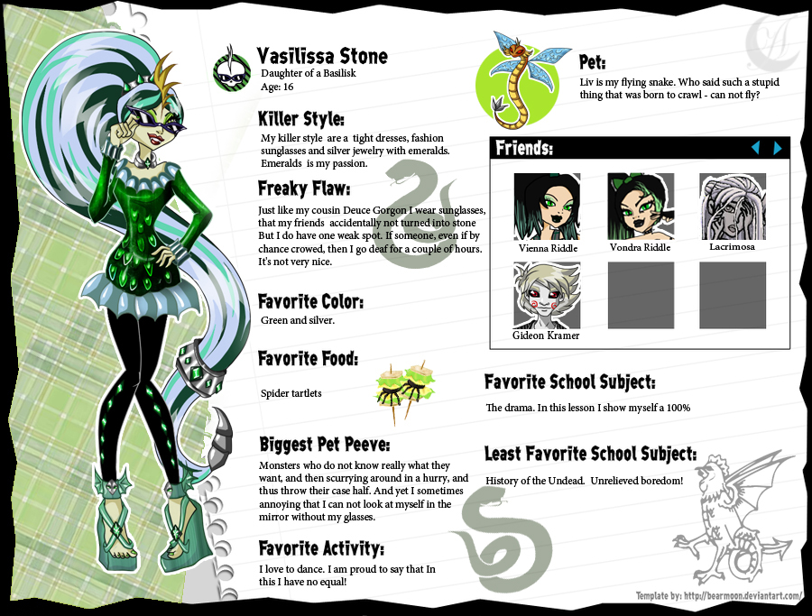 Monster High OC by Anzhelee on DeviantArt