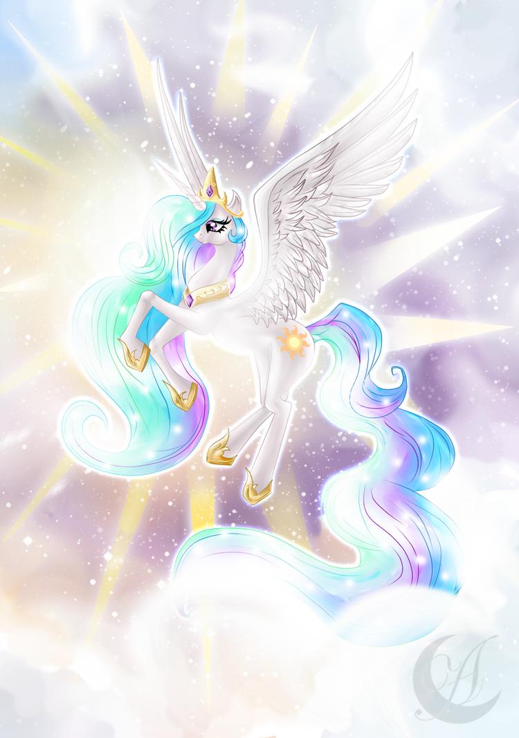 My Little Pony: princess Celestia by Anzhelee