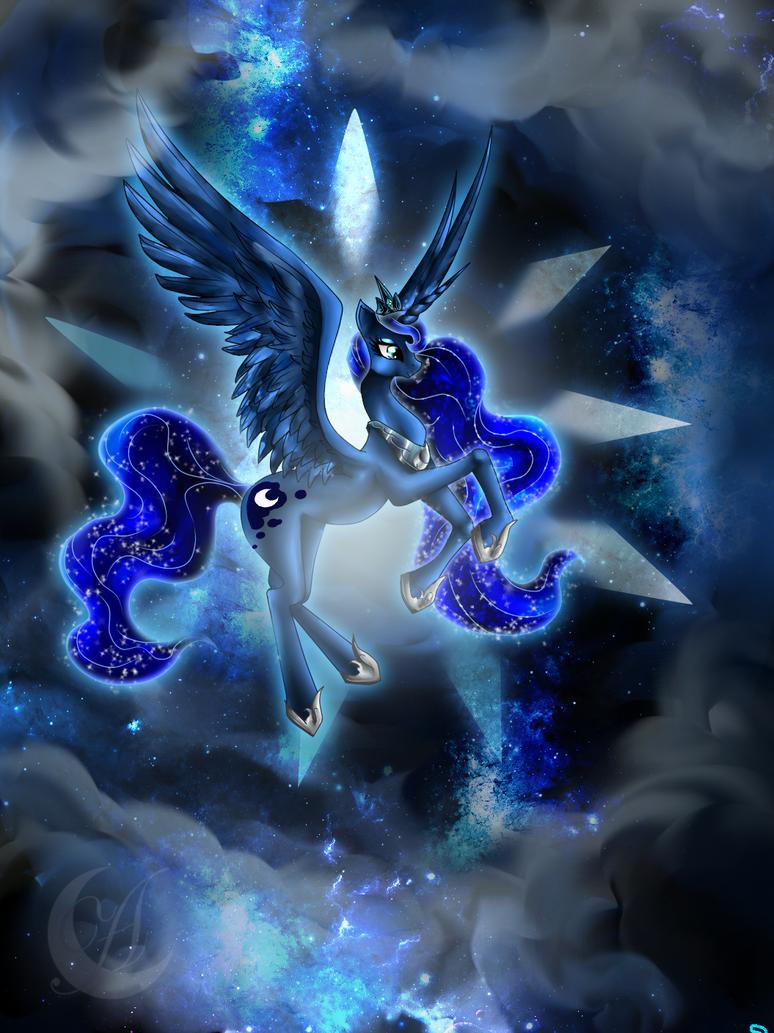 my little pony princess lunaanzhelee on deviantart