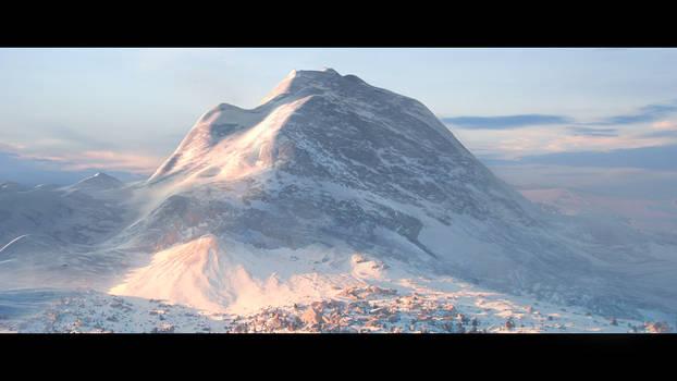 mountain matte painting