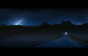 Nevada highway mattepainting by regnar3712