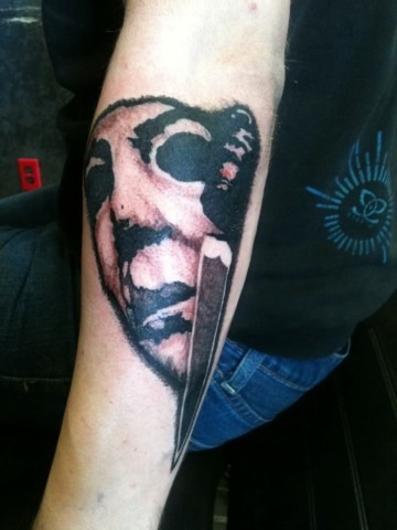 Michael myers tattoo by inkedromeo18 on deviantart for Michael myers tattoo