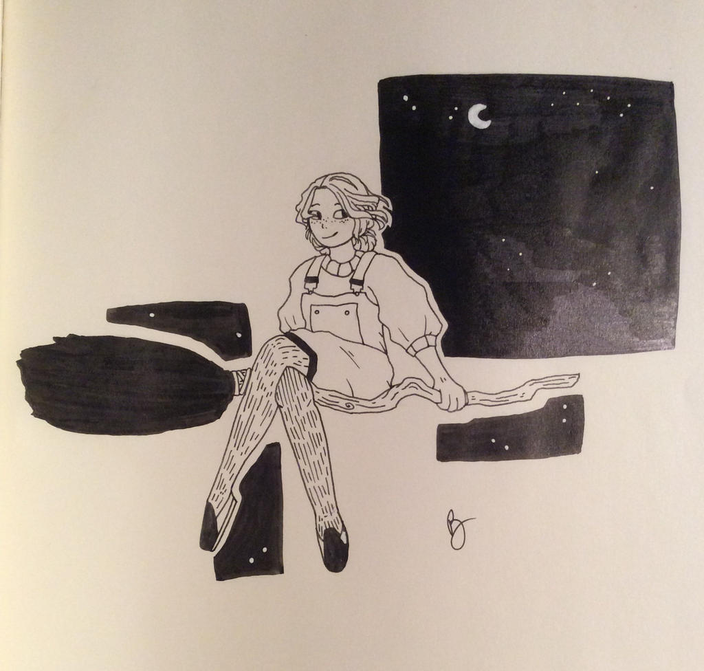 Inktober 1-Swift by Bat-tery