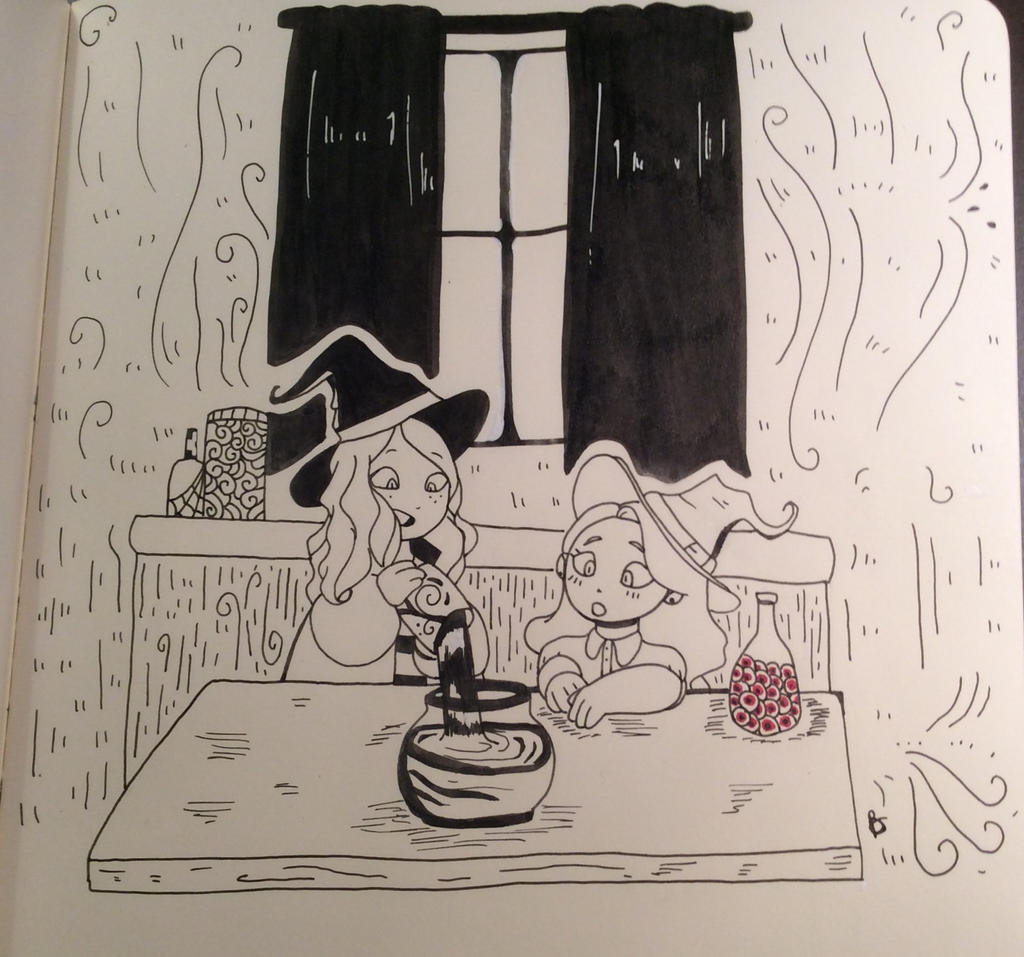 Inktober 3-Poison by Bat-tery