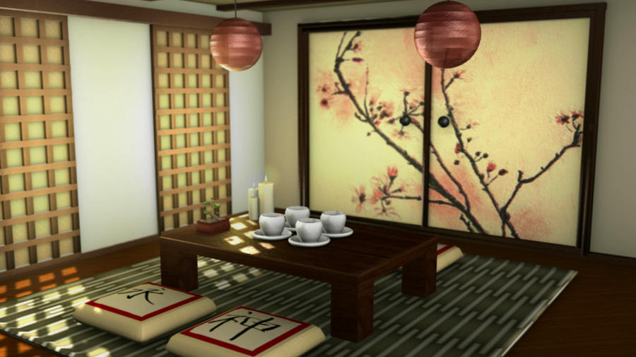 Japanese Tea Room by TJLogan on DeviantArt