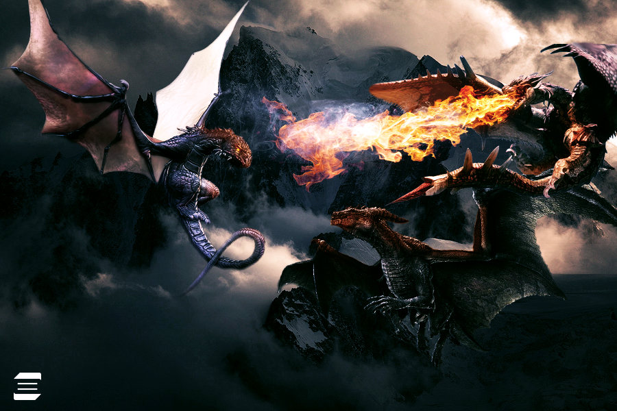 Wallpaper Dragon by BiioGoth