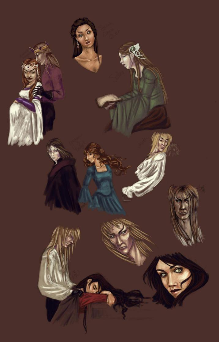 Labyrinth Speedpaints... by demonsaya