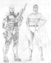 Halo vs Superman by darosa4562