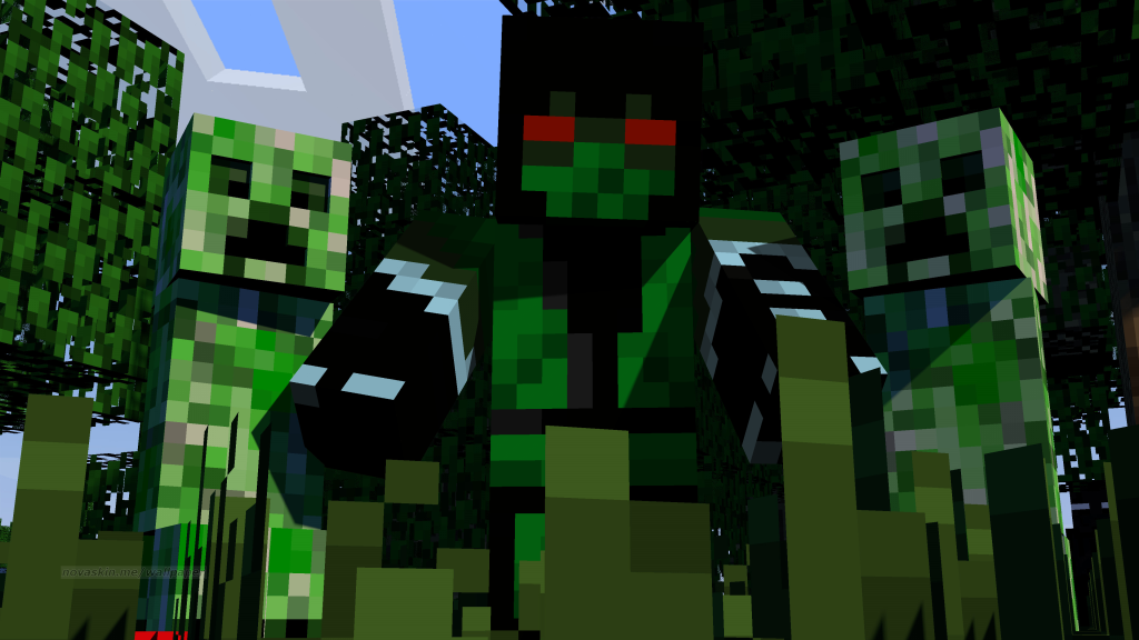 novaskin minecraft wallpaper creeper by ramrod1000 on