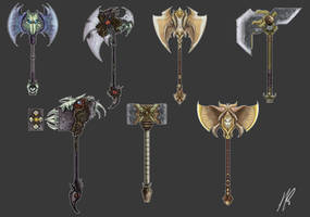 Weapon Concepts by Michael-Galefire