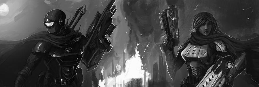 40k Dark Heresy Characters - Assassin and Pyro by Michael-Galefire