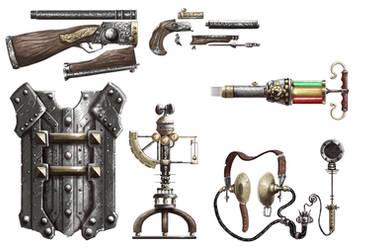 Iron Kingdoms - Equipment by Michael-Galefire