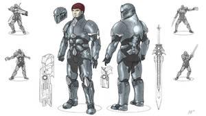 Galefire Saga - Mk. IV Exo-Shell Powered Armor
