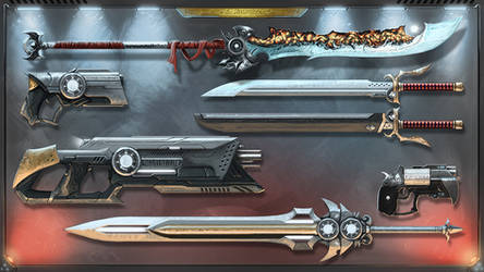 Galefire Saga - Weaponry by Michael-Galefire