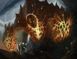 Saga Card Art - Ancient Magma Golem