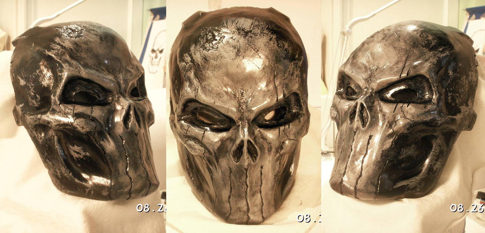 Punisher Skull Battle Damage by Uratz-Studios