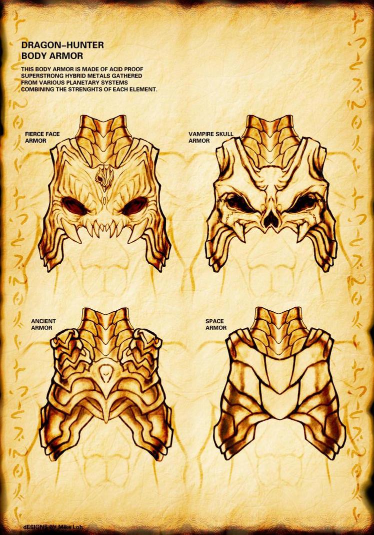 Dragon hunter armor alternates by uratz studios on deviantart - Uratz studios ...