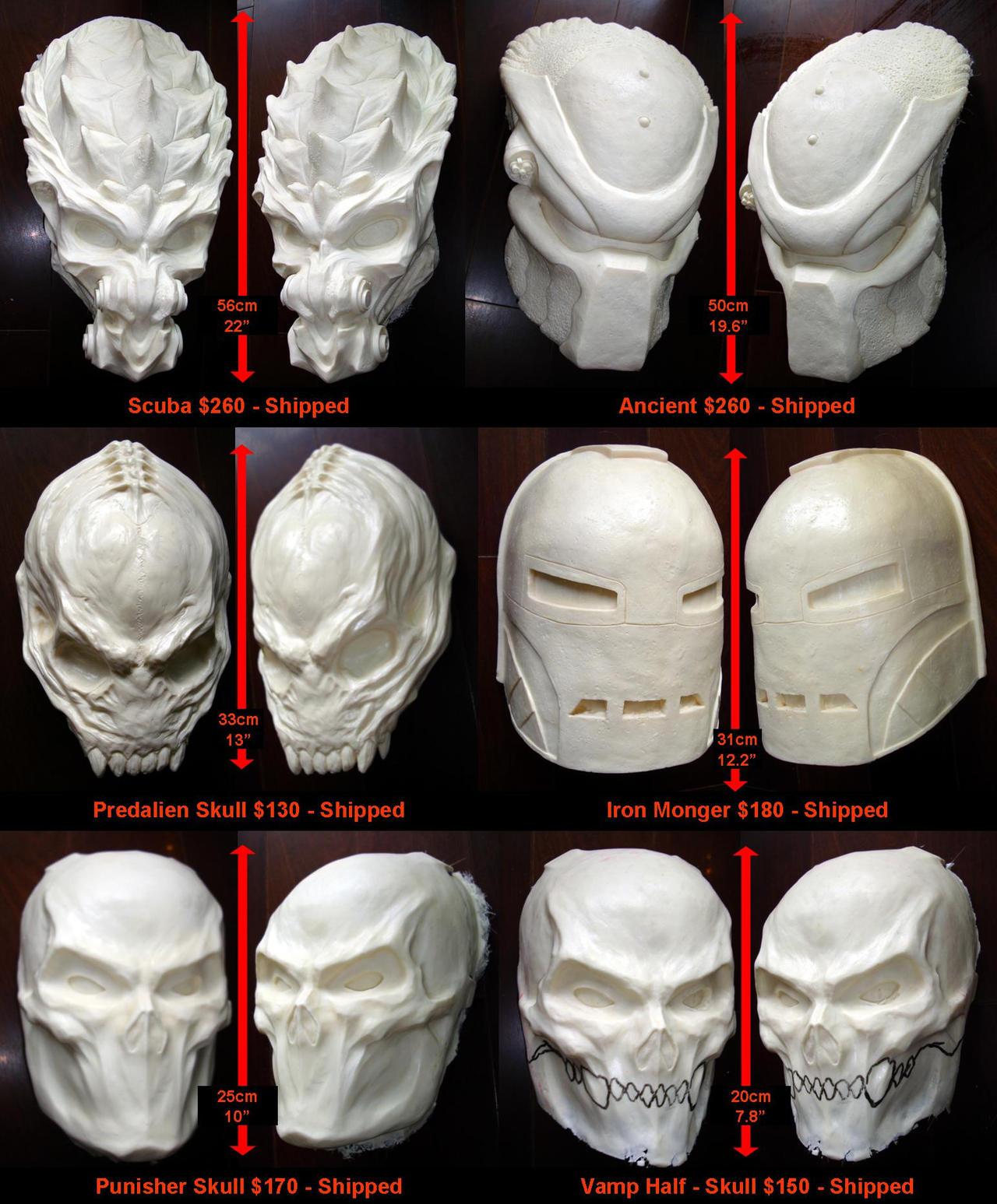 Mask sale blanks by uratz studios on deviantart - Uratz studios ...