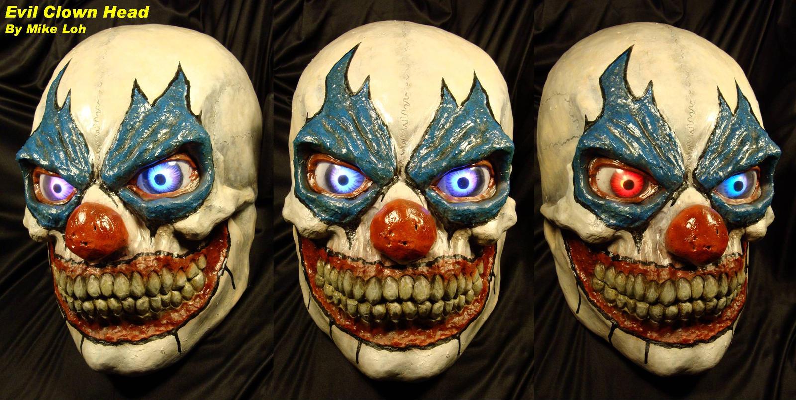 Evil clown head by uratz studios on deviantart - Uratz studios ...